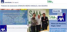 SMA firma un acuerdo de colaboración con AXA seguros a través de la Agencia Perez & Riu, que proporcionará a los afiliados importantes ventajas en Planes de Pensiones, Seguros de Hogar y Seguros de Sa