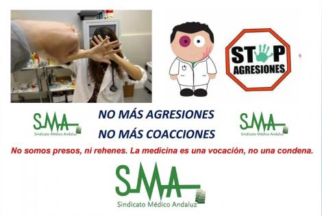 Contra las agresiones a sanitarios, tolerancia 0. ¡¡Denuncia todas las agresiones físicas o verbales!!
