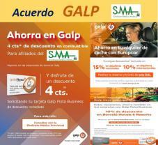 El Sindicato Médico Andaluz firma un acuerdo con GALP Energía - Descuentos en combustible y más ventajas