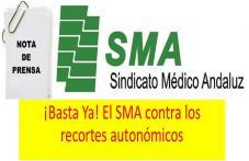 Nota de Prensa del SMA exigiendo a la Consejería de Salud la restitución de todos los recortes y derechos laborales que nos quitó la administración autonómica, además de nuestro apoyo incondicional a