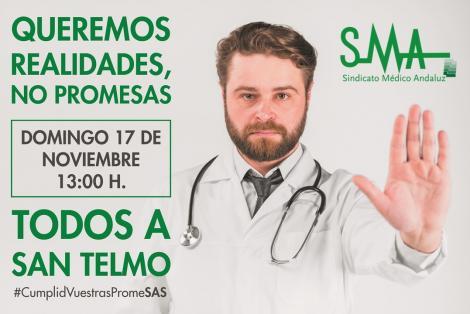 17-N: CONCENTRACIÓN EN SEVILLA. TODOS A SAN TELMO. Los médicos ya no aguantamos más. No más promesas incumplidas.