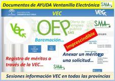 Material de apoyo para el uso en la VEC del currículum digital, registro de méritos, baremación, vinculación a OEP. Sesiones informativas...