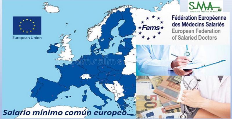 Primeras pinceladas para un próximo salario mínimo común médico en Europa.