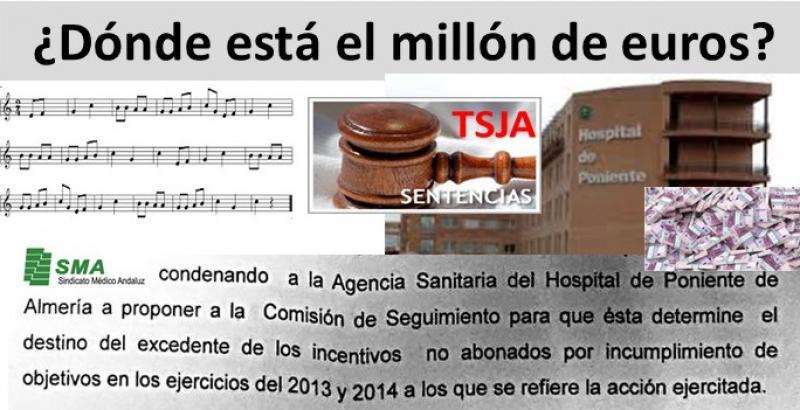 El TSJA condena al H. de Poniente a negociar el reparto del millón de euros desaparecido ¿Dónde estará el millón?