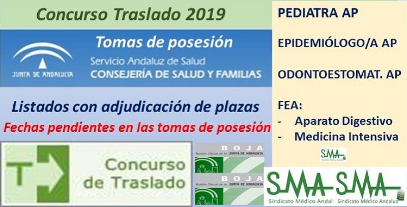 Concurso de Traslados 2019. Publicado en el Boja la resolución definitiva de FEA Digestivo y M. Intensiva y de Epidemiólogo, Odontoestomatólogo y Pediatra de Atención Primaria.