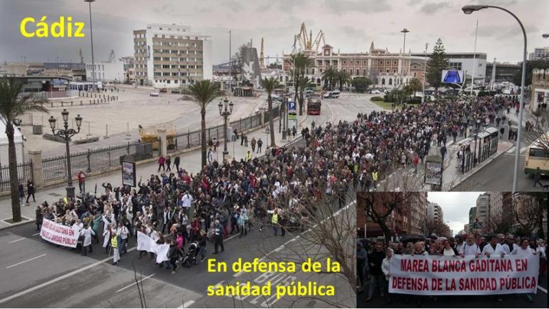 La Marea Blanca exige en Cádiz