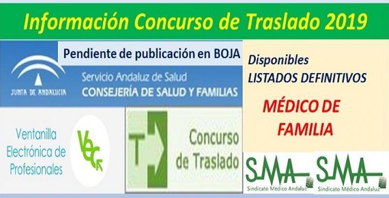 Publicada en la web del SAS la propuesta de listado definitivo del Concurso de Traslados de Médico de Familia.