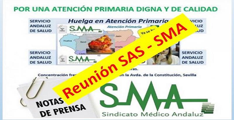 El SAS se reúne con el Sindicato Médico Andaluz para abordar la situación de la Atención Primaria y sus reivindicaciones.