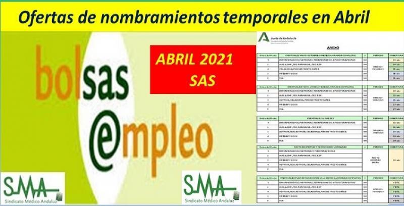 Plan de actuación para la realización de ofertas de nombramientos temporales a partir de 7 de abril de 2021.