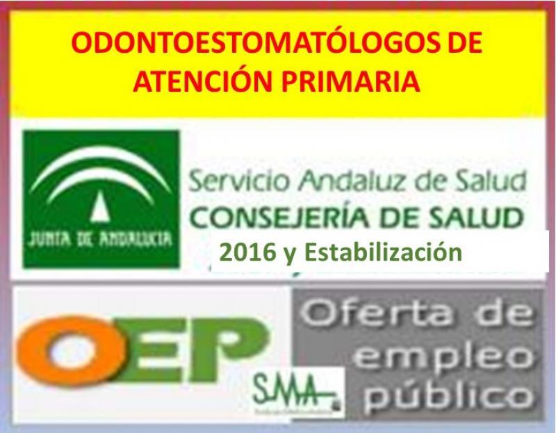 Publicada en BOJA la nueva convocatoria de OPE de Odontoestomatólogos.