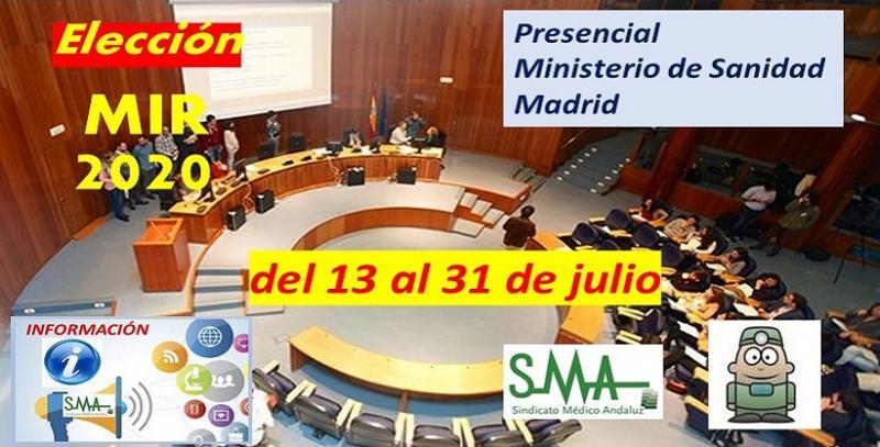 El lunes 13 de julio, a las 8.00 horas comienza la adjudicación de plazas MIR 2020 en la sede del Ministerio de Sanidad en Madrid.