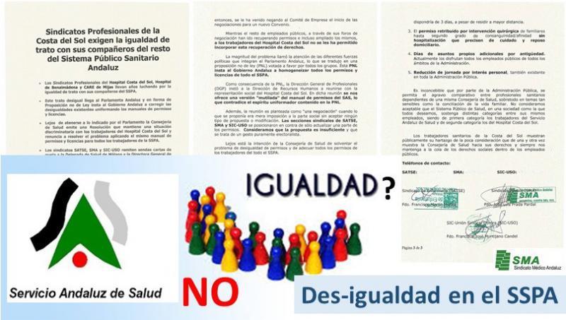 El SMA critica la demora en homogeneizar los permisos en la sanidad pública andaluza.