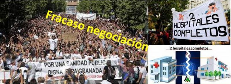 La negociación por la sanidad en Granada salta por los aires.