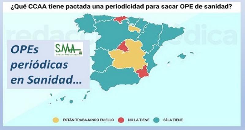 4 CCAA siguen sin un compromiso para sacar OPE sanitarias periódicas.