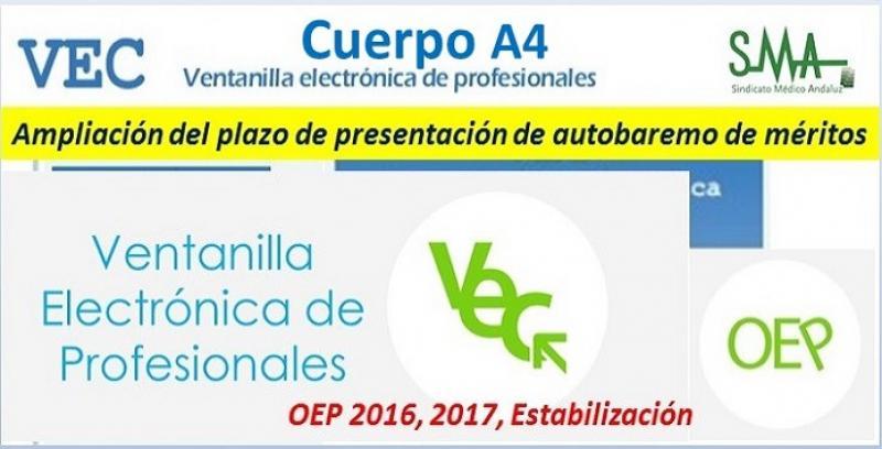 OEP 2016. Ampliación del plazo de presentación del Autobaremo de méritos para Cuerpo A4, especialidades Veterinaria y Farmacia.