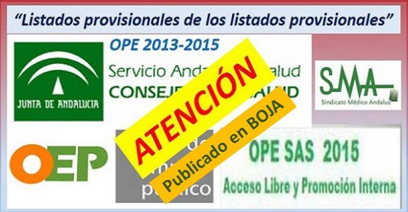 Se publica en el BOJA nuevos requerimientos de documentación a aspirantes de determinadas categorías y especialidades de la OPE 2013-15.