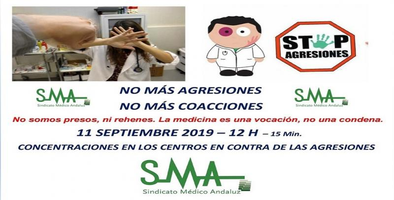 El SMA insta a los facultativos andaluces a manifestar su rechazo a las coacciones y agresiones. Concentraciones de 15 min. en las puertas de los centros.
