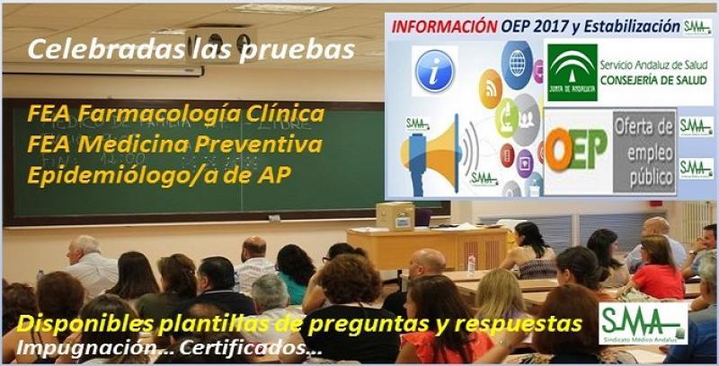 Celebrados ayer domingo 10 de marzo los exámenes de la OEP 2017 y Estabilización para FEA de Farmacología Clínica y Medicina Preventiva y Epidemiólogo/a de AP.