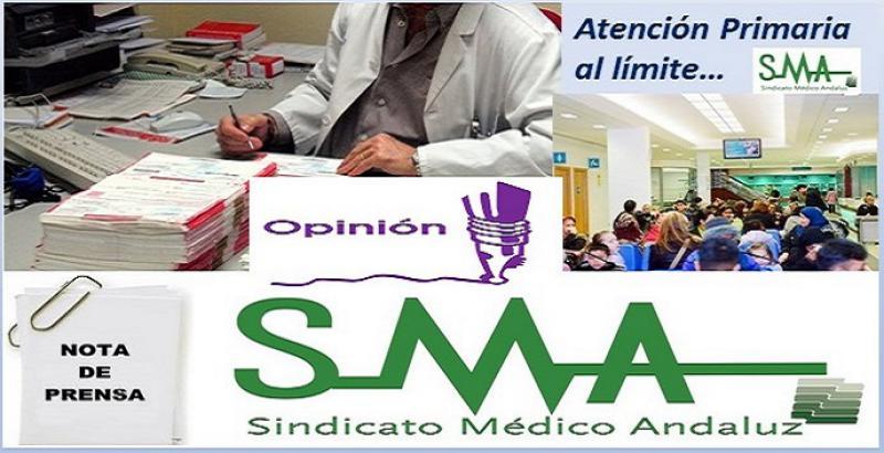 El SMA rechaza la grave situación de la Atención Primaria en Andalucía.