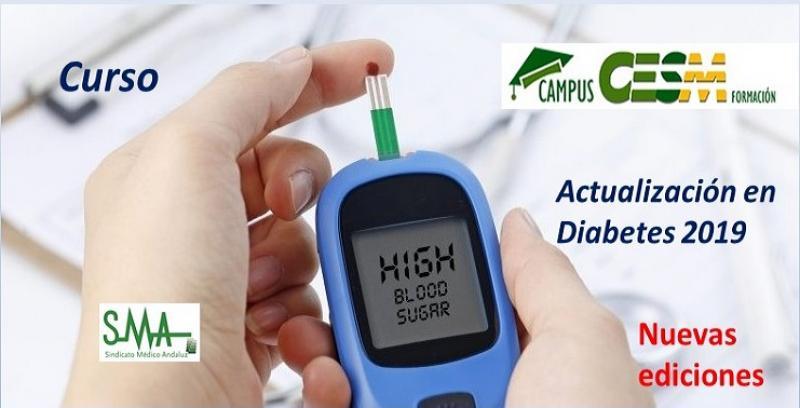 Nuevas ediciones del Curso de CampusCESM: Actualización en Diabetes 2019.