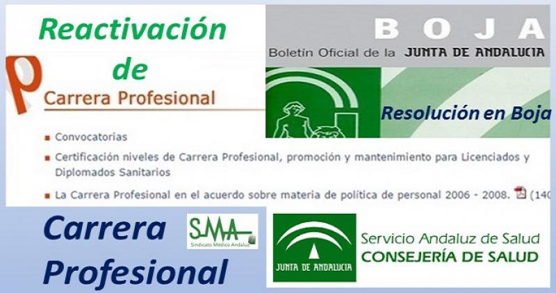 Publicada en el Boja la Resolución que reactiva la carrera profesional en Andalucía.