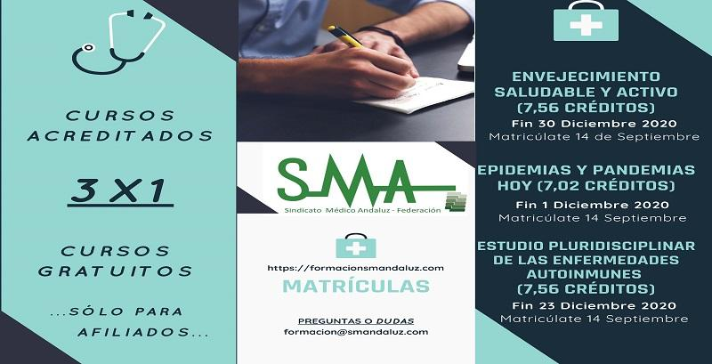 3 nuevos cursos  acreditados, gratuitos para afiliados, disponibles en SMA Campus Formación.
