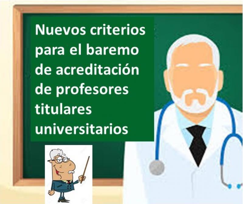 Nuevos criterios del baremo para la acreditación de docentes universitarios.
