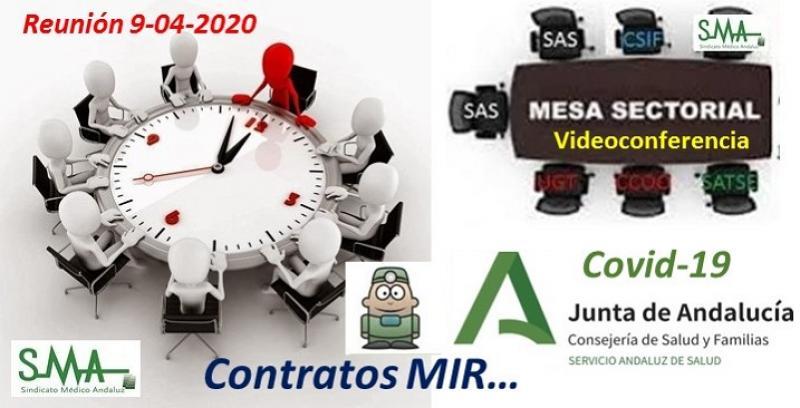 Información de la mesa sectorial del 9 de abril de 2020: Contratos MIR.