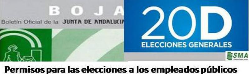 Normas para facilitar el voto a los empleados públicos el 20 D.