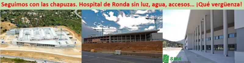 Otro más!!  Hospital de Ronda sin licencia por carecer de luz, agua y accesos.