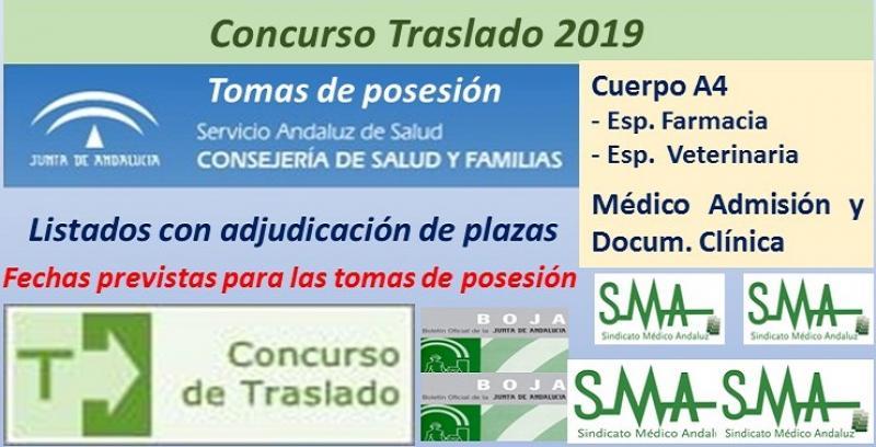 Concurso de Traslados 2019. Publicado en el Boja la resolución definitiva del Cuerpo A4, especialidades Farmacia y Veterinaria y de Médico de Admisión.