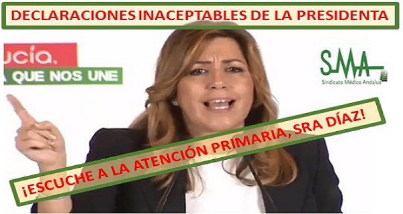 Respuesta a las declaraciones de la Presidenta de Andalucía.