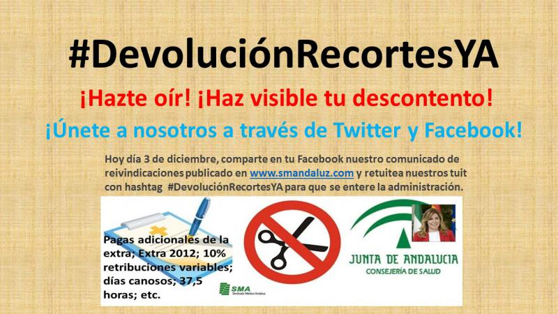 #DevoluciónRecortesYA  ¡Haz visible tu descontento!