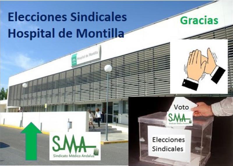 Éxito del SMA en las elecciones sindicales del Hospital de Montilla.