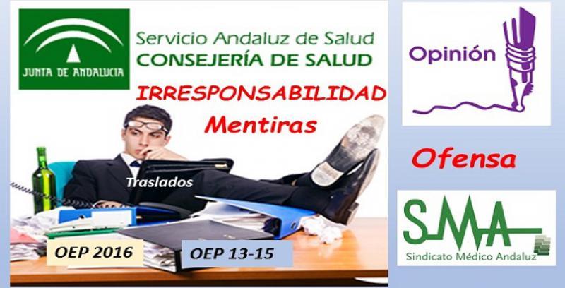 La irresponsabilidad del SAS es ya ofensiva para los facultativos andaluces.