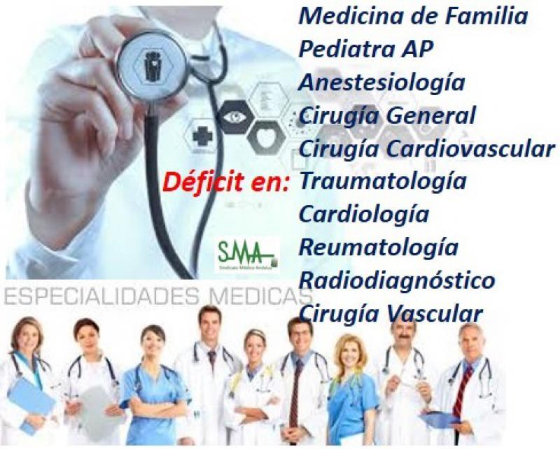 Sanidad identifica las especialidades con más déficit de profesionales sanitarios.