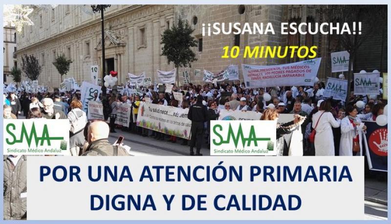 Éxito de la huelga de Atención Primaria convocada ayer 27 de noviembre.