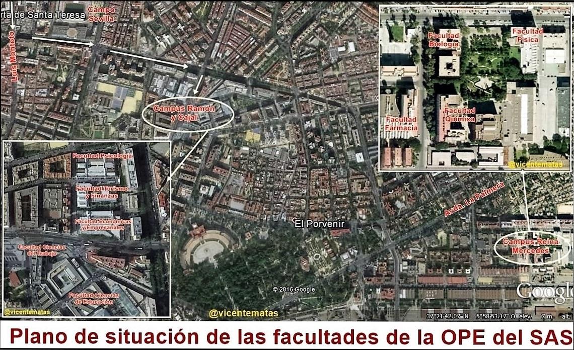 Lugares de celebración exámenes OPE facultativos
