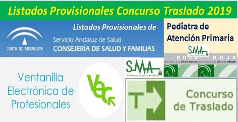Publicada en el BOJA resolución del Concurso de Traslado 2019 con listados provisionales de Pediatra de Atención Primaria.