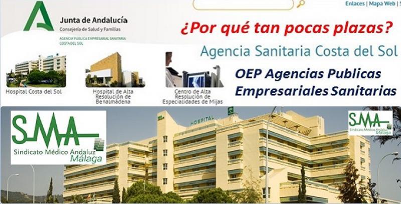 La Agencia Sanitaria Costa del Sol maltratada en la OEP de estabilización prevista para las Agencias Públicas Sanitarias (APS).