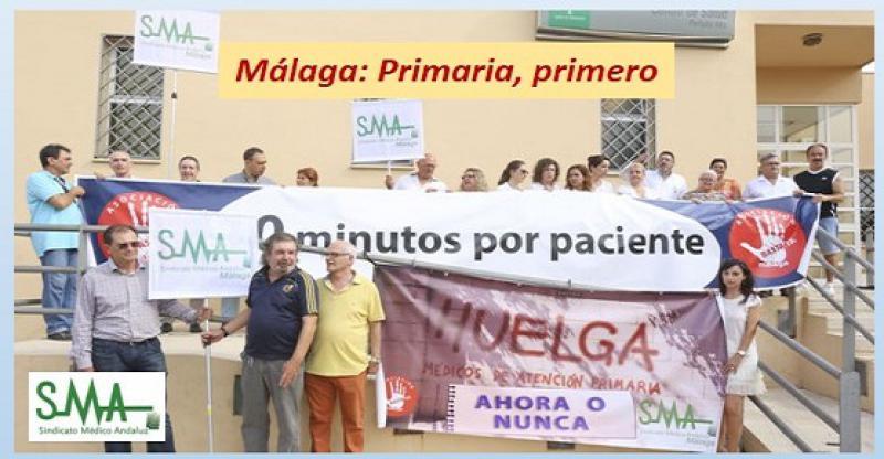 Médicos de Primaria de Málaga determinan los días exactos qué irán a la huelga.