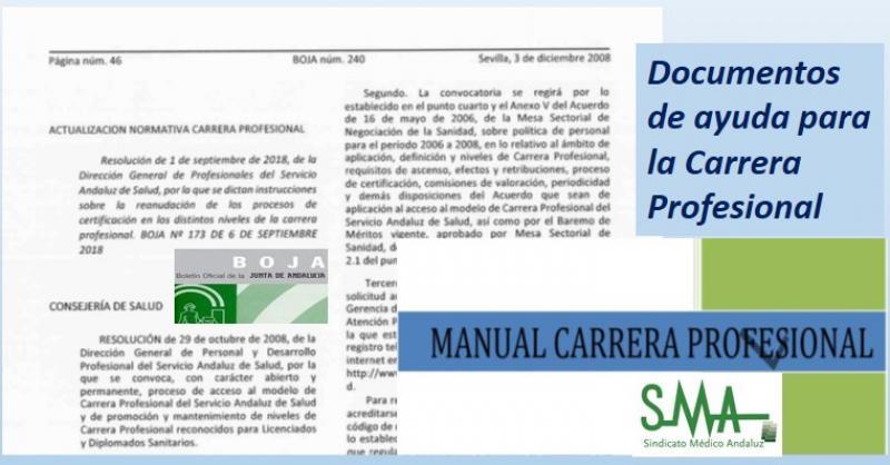 Documentos de ayuda para la Carrera Profesional.