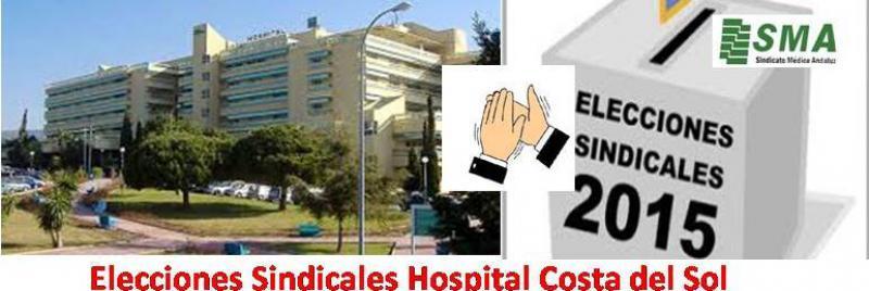 Rotundo éxito del SMA en las elecciones sindicales del Hospital Costa del Sol.