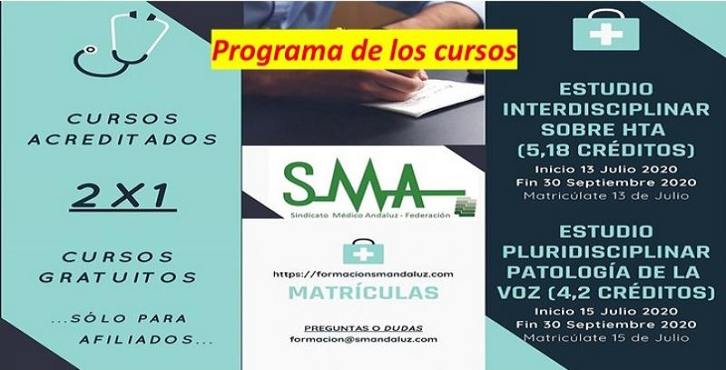 Información sobre los cursos de HTA y La Voz en nuestra plataforma de formación.