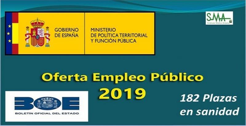 Pocas plazas de sanidad en la gran oferta de empleo público estatal de 2019.