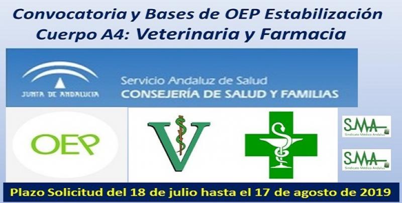 Publicadas en el Boja las convocatorias de OEP de Estabilización, acceso libre, para Cuerpo Superior Facultativo IISS especialidades Veterinaria y Farmacia.