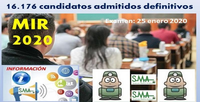 Sanidad publica la lista definitiva de admitidos al examen MIR 2020.