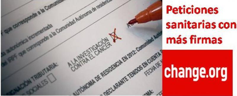 Las 5 peticiones sanitarias que más firmas acumulan en 2016.