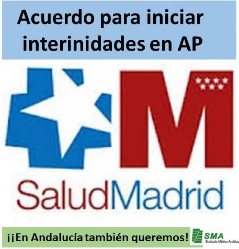 Madrid: Acuerdo para iniciar las interinidades en Atención Primaria.
