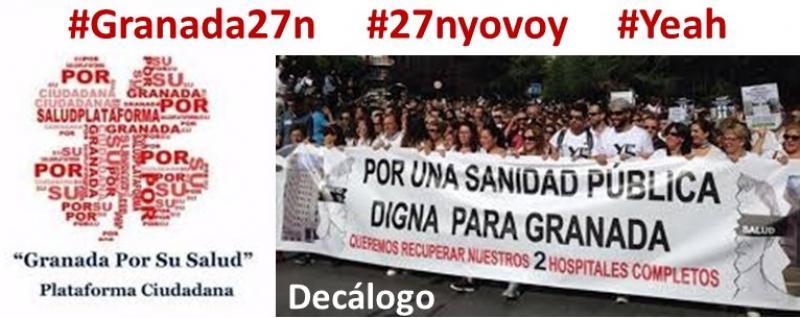 Decálogo de Granada por su Salud que incluye revertir la fusión.
